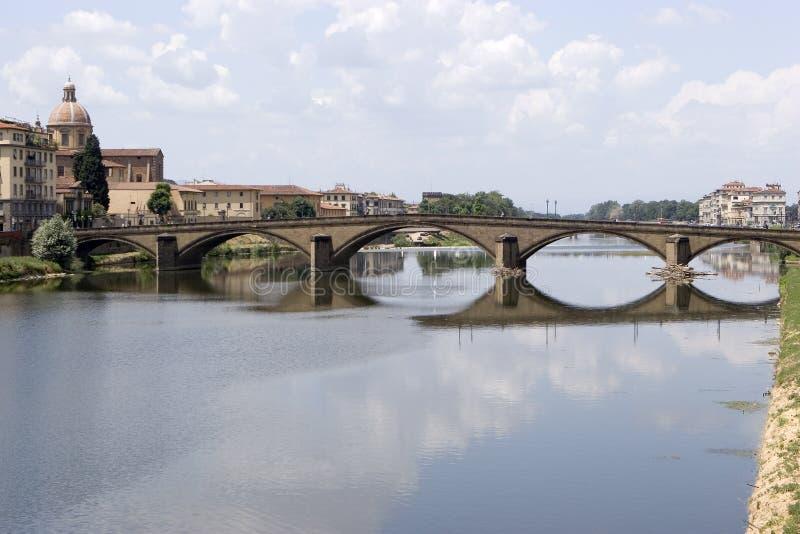 Brücke in Florenz stockbilder