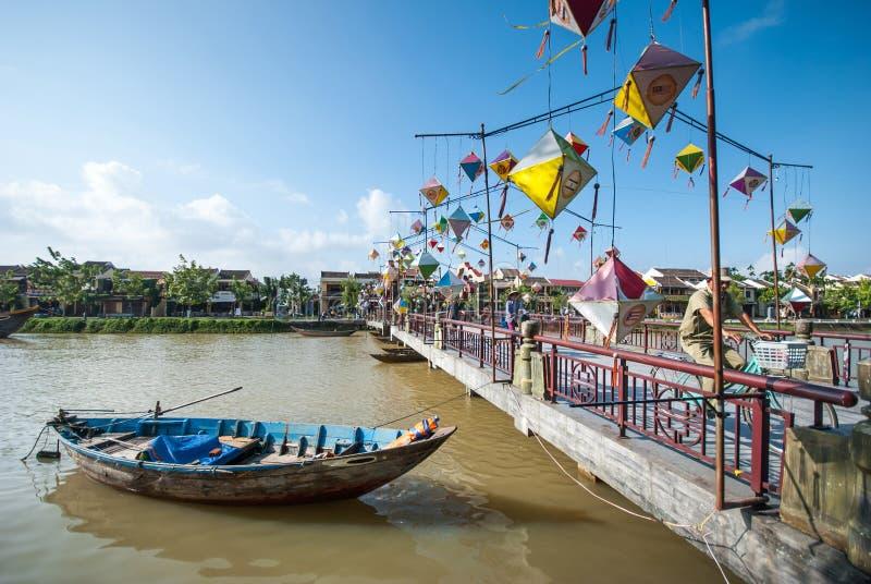 Brücke in Hoi An, alte Stadt von Vietnam lizenzfreie stockbilder