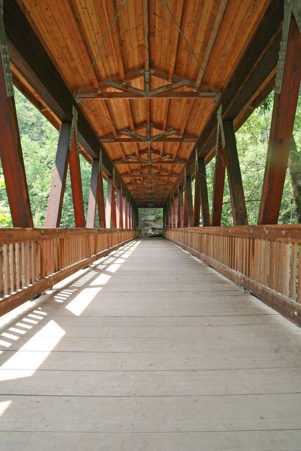 Brücke in Holz lizenzfreie stockfotos