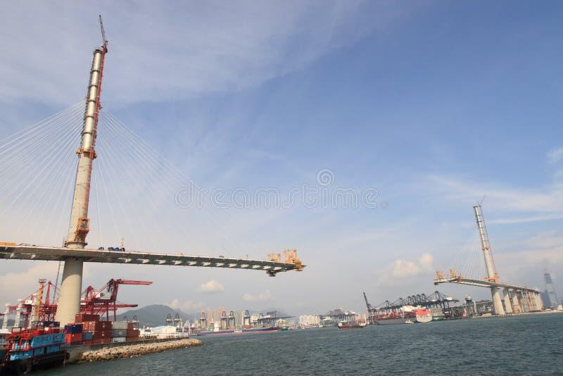 Brücke im Bau lizenzfreies stockfoto