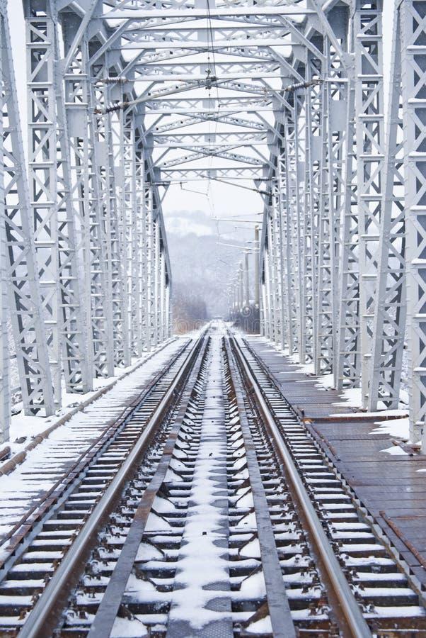 Brücke im Winter stockbilder