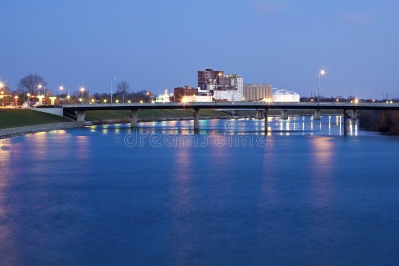 Brücke in Indianapolis lizenzfreie stockfotografie