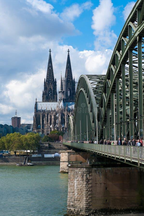 Brücke in Köln, Deutschland stockfoto