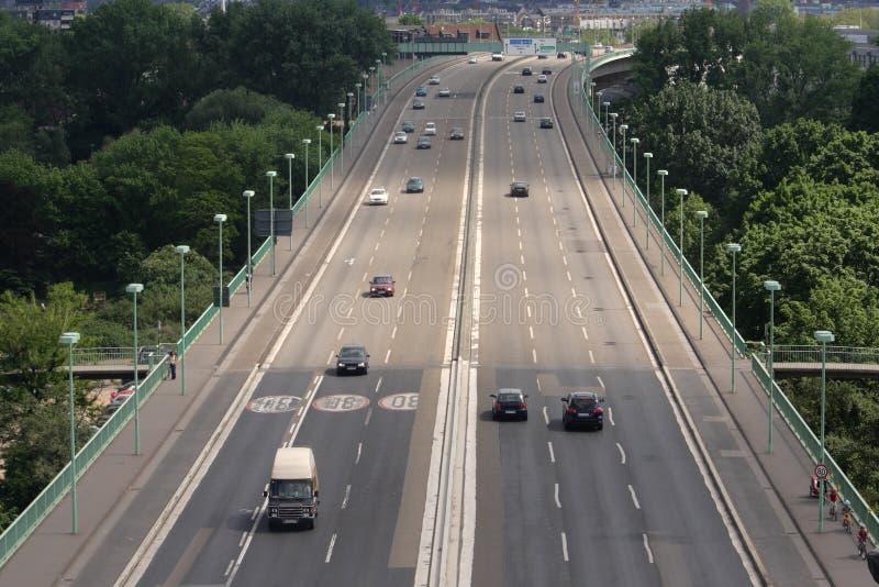 Brücke in Köln (Rheinland, Deutschland) stockfotos