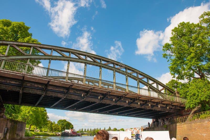 Brücke in Lübeck Deutschland stockbild