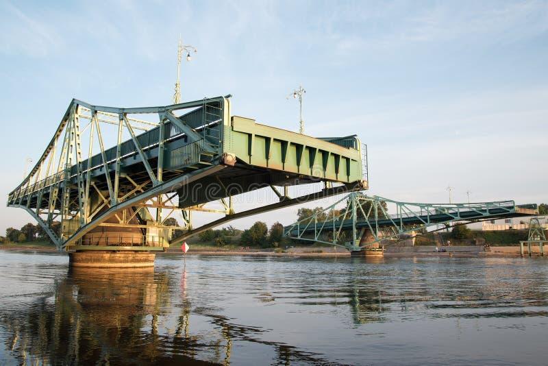 Brücke in Liepaja, Lettland stockfotografie