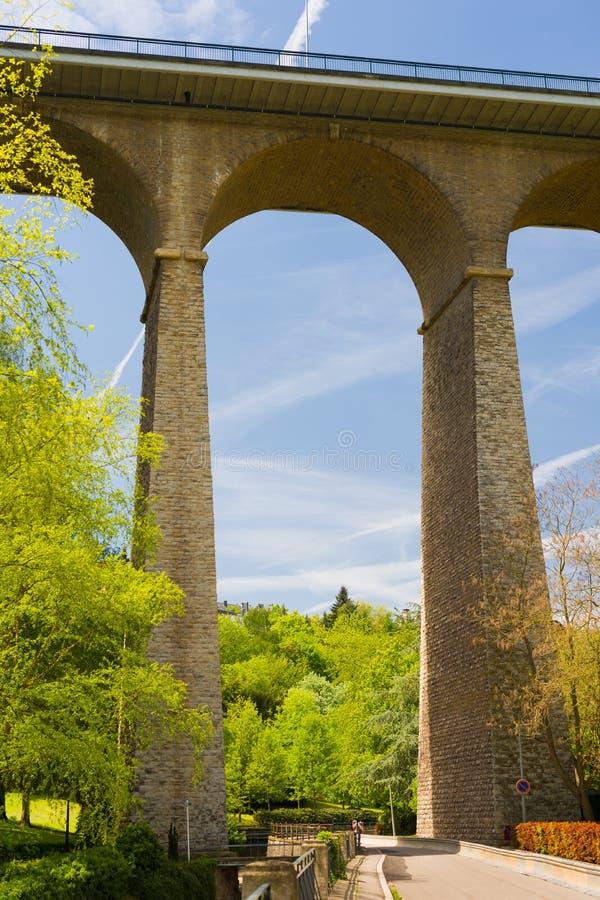 Brücke in Luxemburg stockfotografie