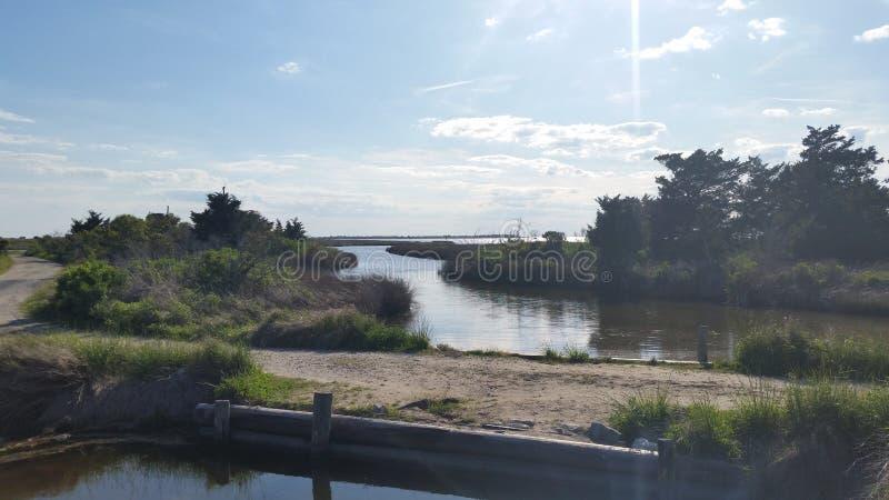 Brücke mit Wasser stockfotos