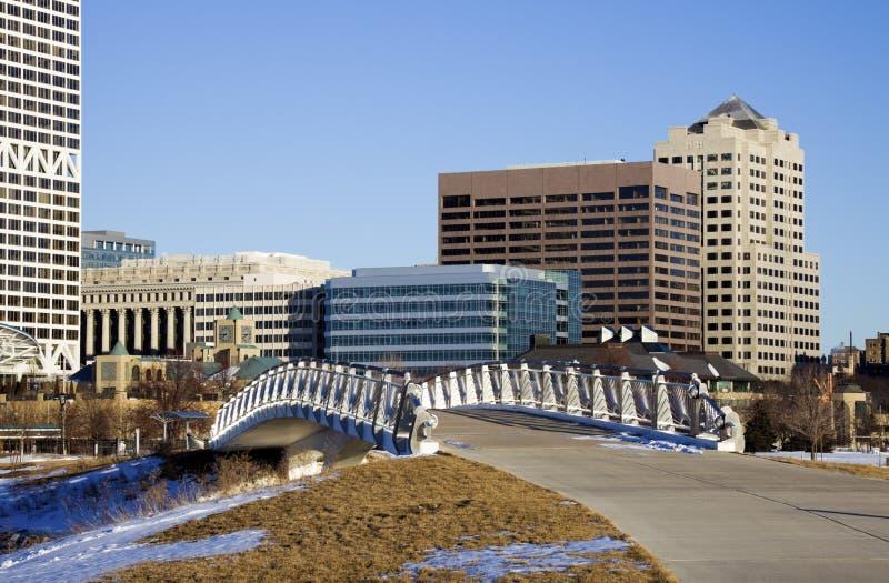 Brücke nach Milwaukee stockfoto