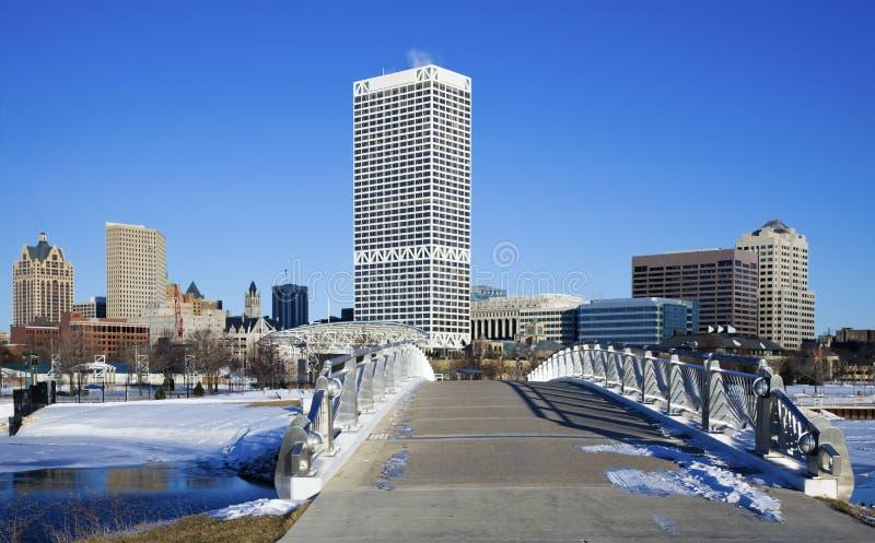 Brücke nach Milwaukee lizenzfreie stockfotografie