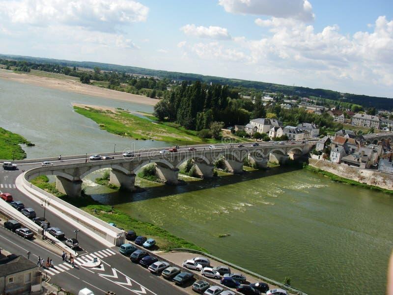 Brücke nahe dem Schloss von Amboise, Frankreich lizenzfreie stockfotos