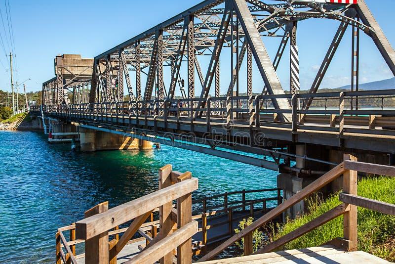 Brücke in Narooma Australien lizenzfreie stockfotos