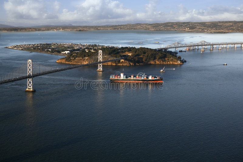 Brücke Oakland-San Francisco Bay lizenzfreie stockbilder