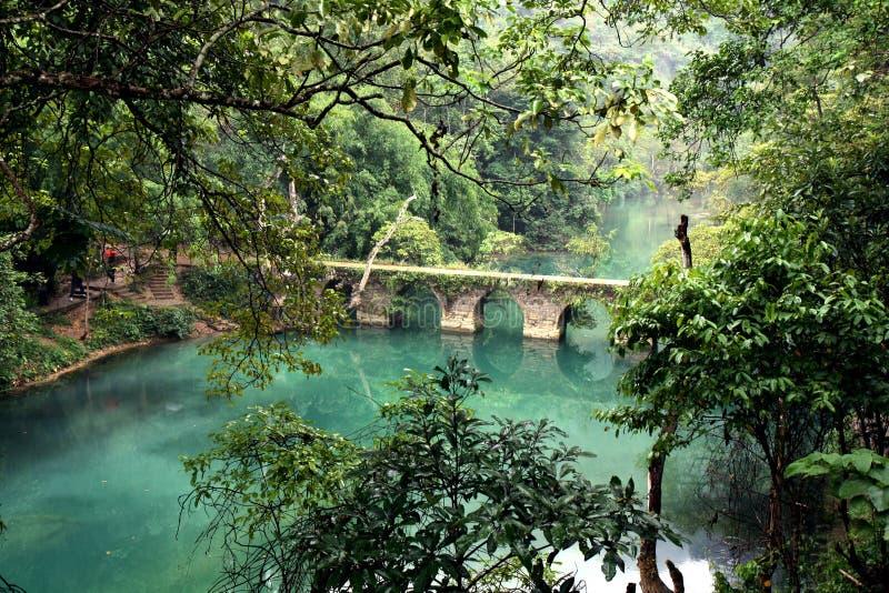 Brücke QiKong, Li BO, GuiZhou, China lizenzfreie stockbilder