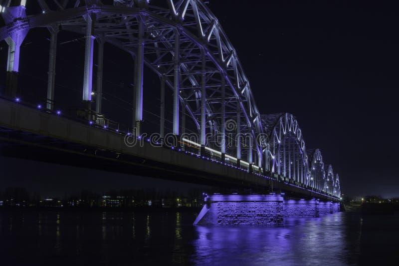 Brücke in Riga stockbild