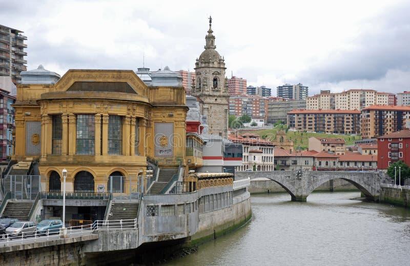Brücke San-Anton in Bilbao stockfotos