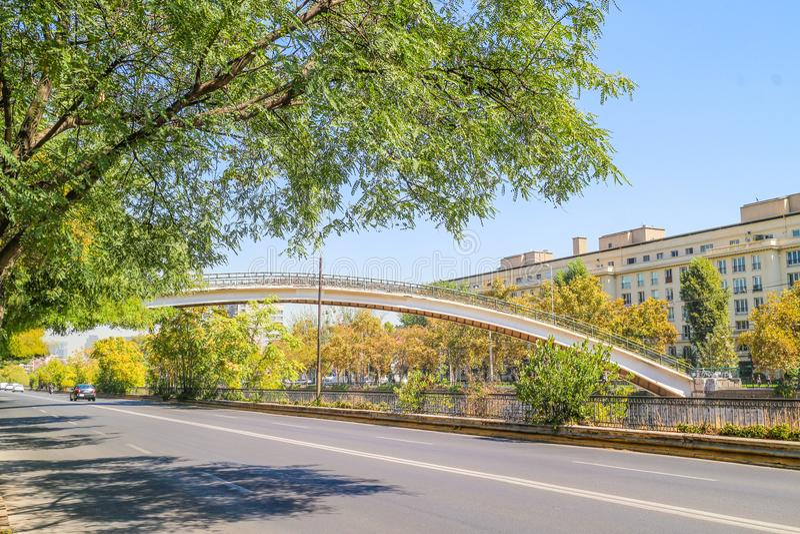 Brücke in Santiago Chile stockfoto