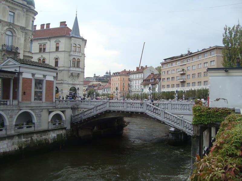 Brücke in Slowenien stockfoto