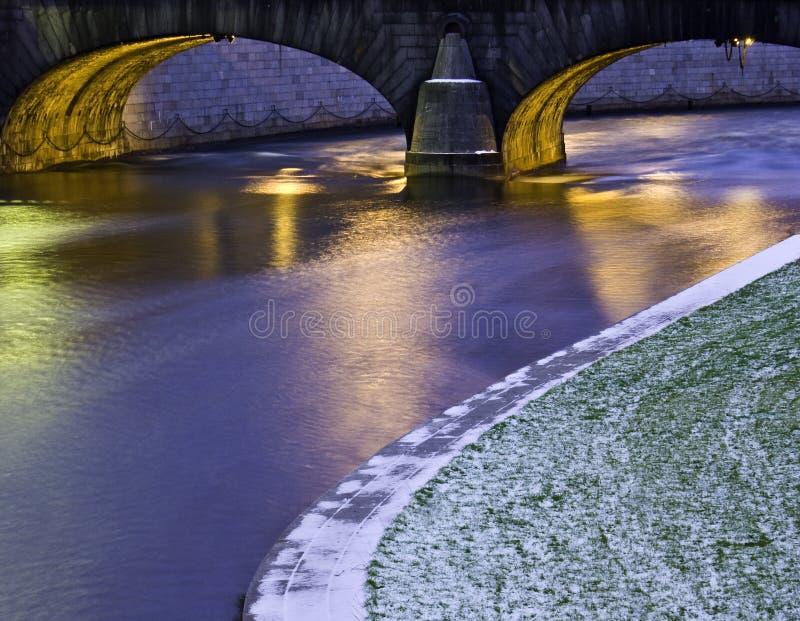 Brücke in Stockholm stockbild
