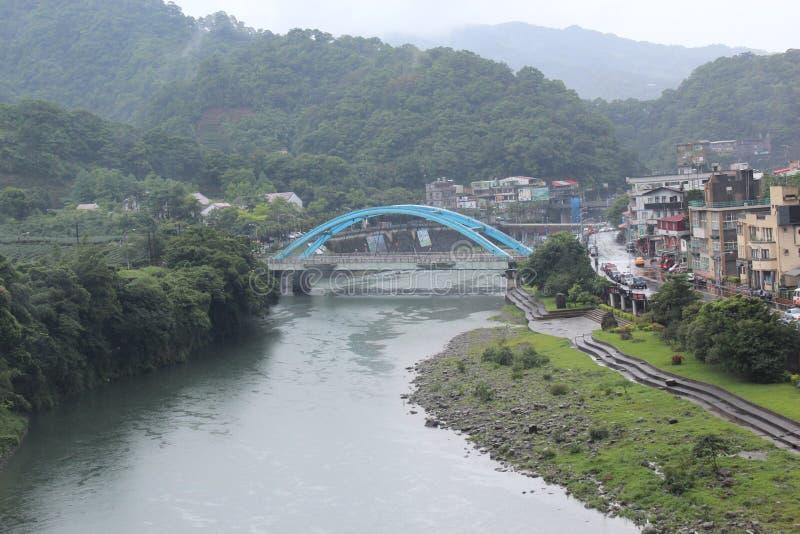 Brücke in Taiwan stockfotos