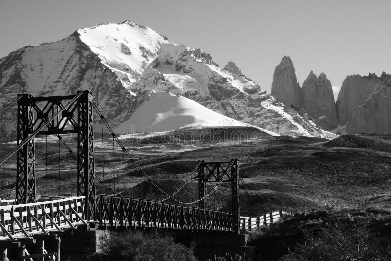 Brücke, Torres Del Paine, Patagonia, Chile lizenzfreie stockfotografie