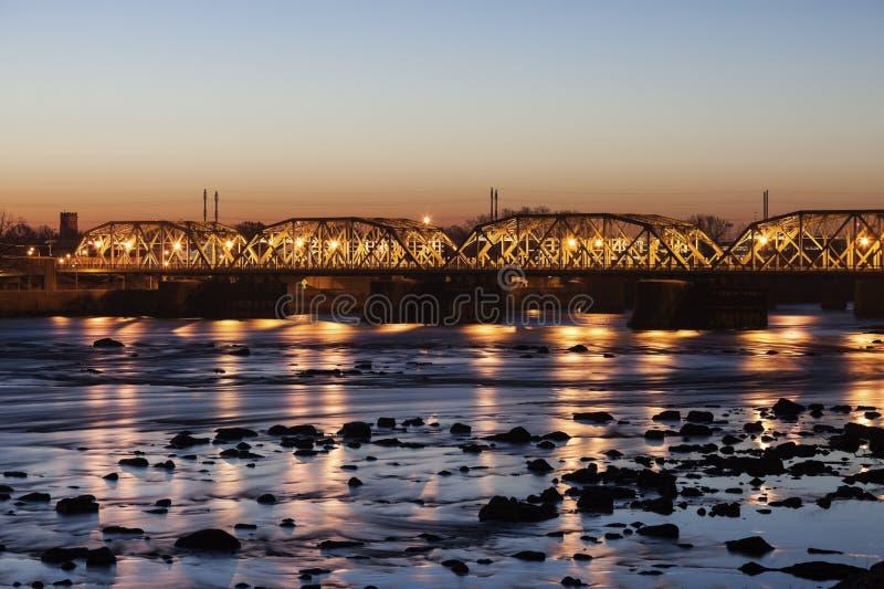 Brücke in Trenton lizenzfreies stockfoto