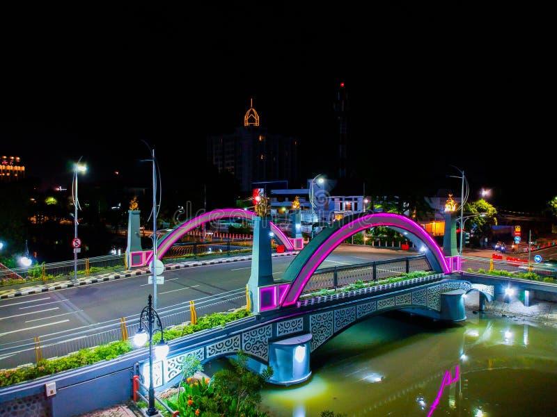 Brücke ujung galuh Surabaya lizenzfreie stockbilder