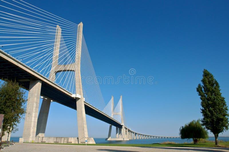 Brücke Vasco-de Gama stockfoto