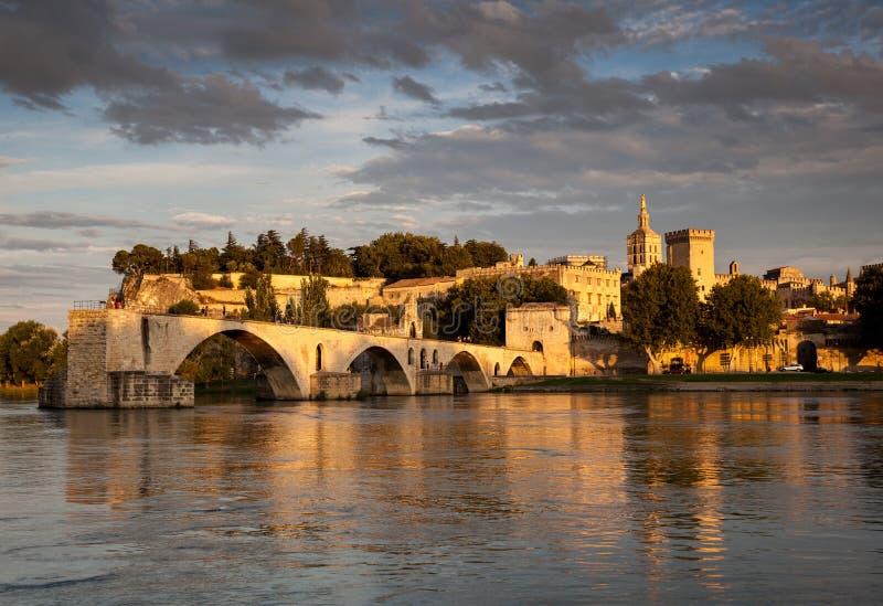 Brücke von Avignon stockbild