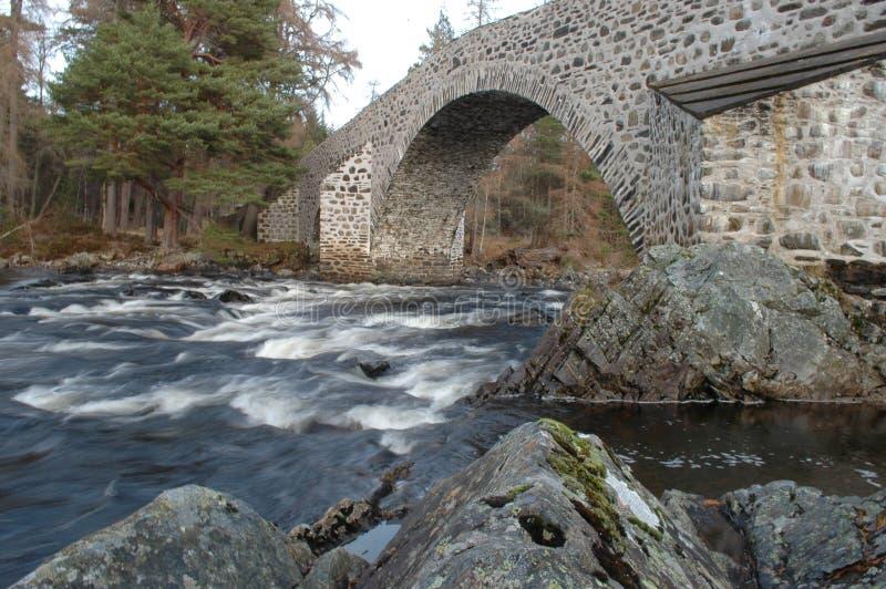 Brücke von Dee, Invercauld lizenzfreies stockbild