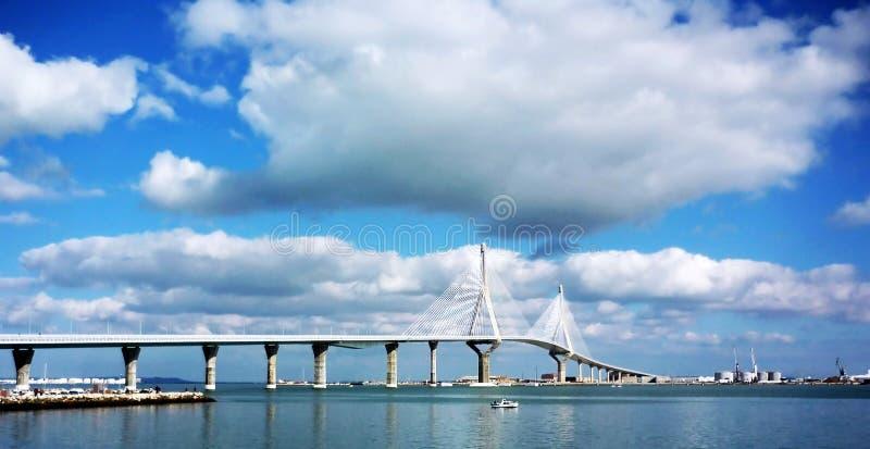 Brücke von La Constitucion, genannt La Pepa, in Cadiz lizenzfreies stockbild
