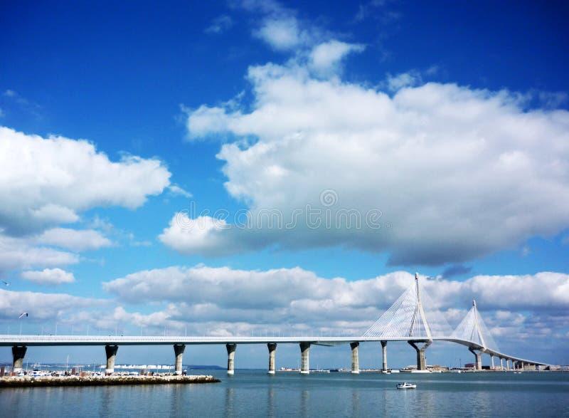 Brücke von La Constitucion, genannt La Pepa, in Cadiz stockfotografie