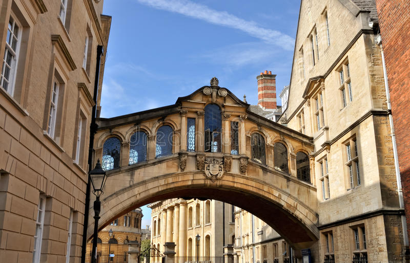 Brücke von Seufzern, Oxford lizenzfreies stockbild