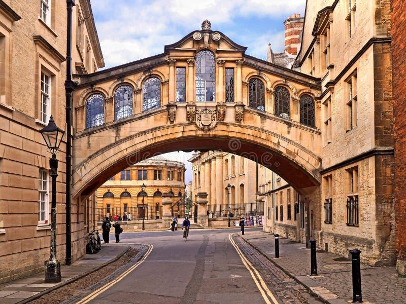 Brücke von Seufzern, Universität von Oxford stockfotografie