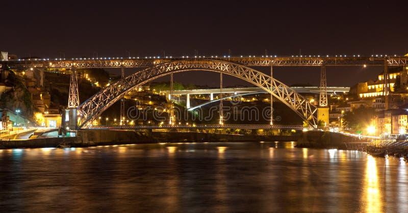 Brücke von ziehen Luis I in Porto an lizenzfreies stockfoto