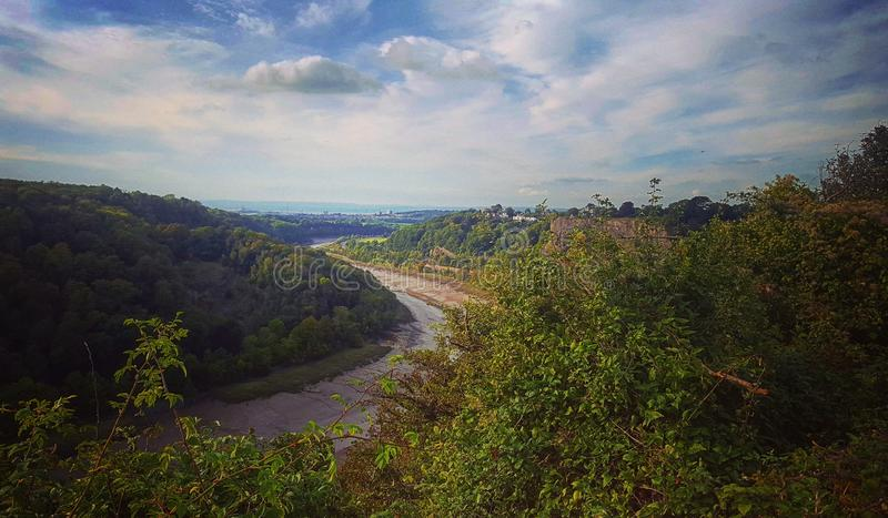 Brücke Wales-Bristols Severn lizenzfreies stockbild
