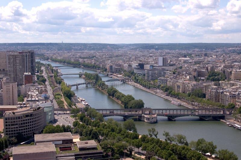 Brücken über dem Seine stockfoto