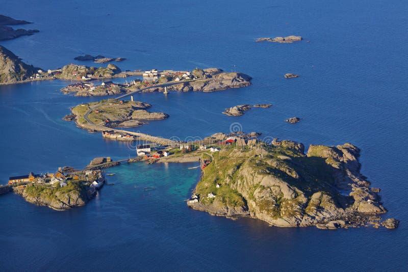 Download Brücken auf Lofoten stockbild. Bild von nord, islets - 26354097