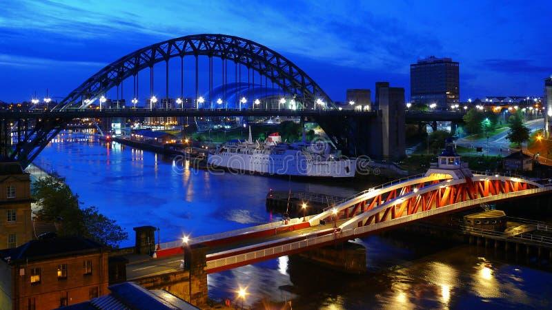 Brücken von Newcastle lizenzfreie stockfotos