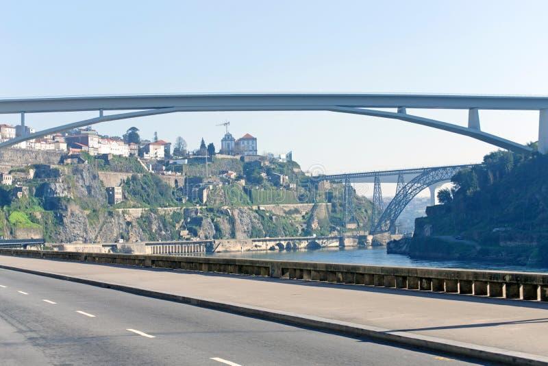 Brücken von Porto, Portugal stockfotos