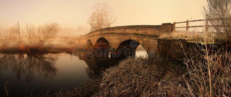 Brückenfluß lizenzfreie stockfotografie