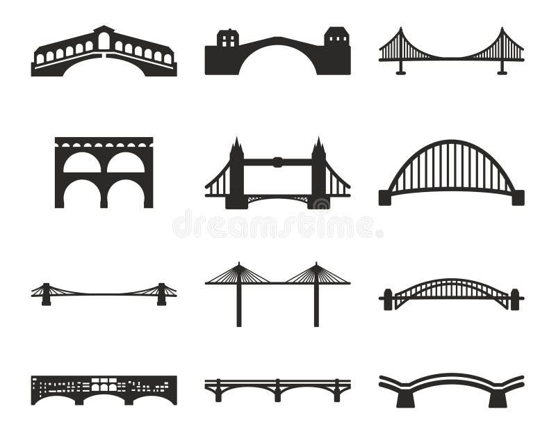 Brückenikonen lizenzfreie abbildung