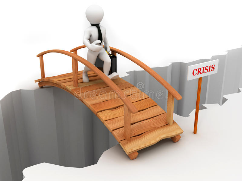 Brückenkrise lizenzfreie abbildung