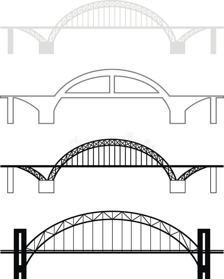 Brückenschattenbilder vektor abbildung