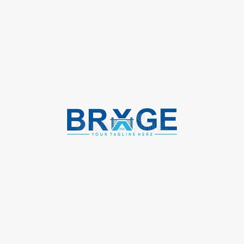 Brückentorlogo-Designvektor stock abbildung