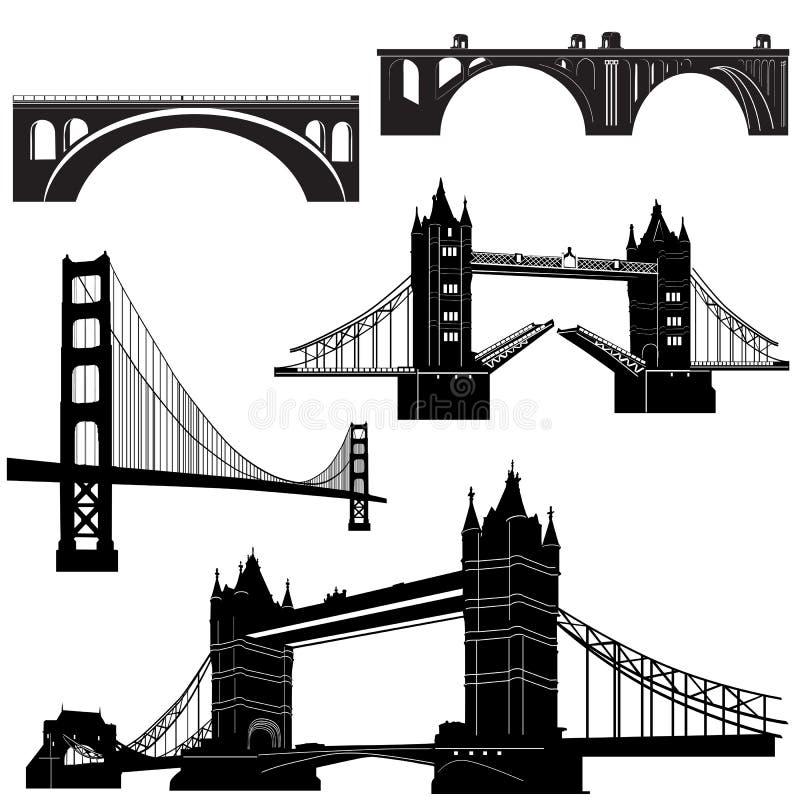 Brückenvektor 2 stock abbildung