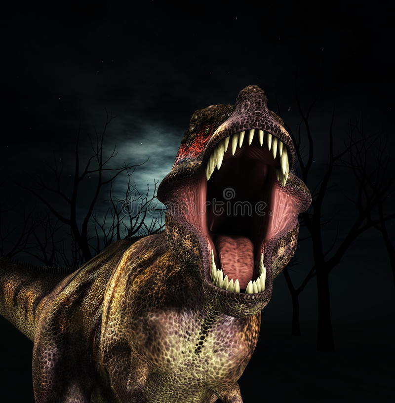 Brüllen T-Rex Stockbild