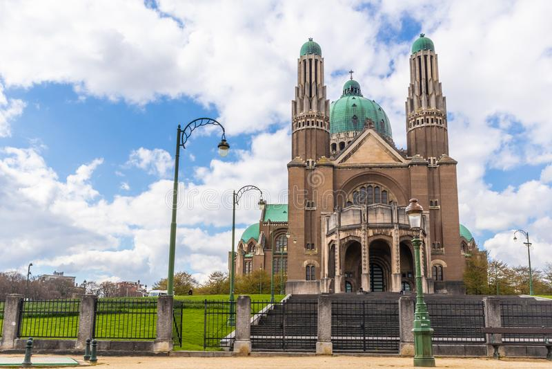 Br?ssel, Belgien - 4. APRIL 2019: Basilika des heiligen Herzens, Br?ssel-Kirche stockbild