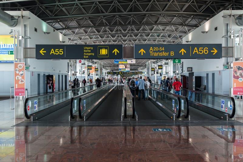 Brüssel-Flughafen stockfoto