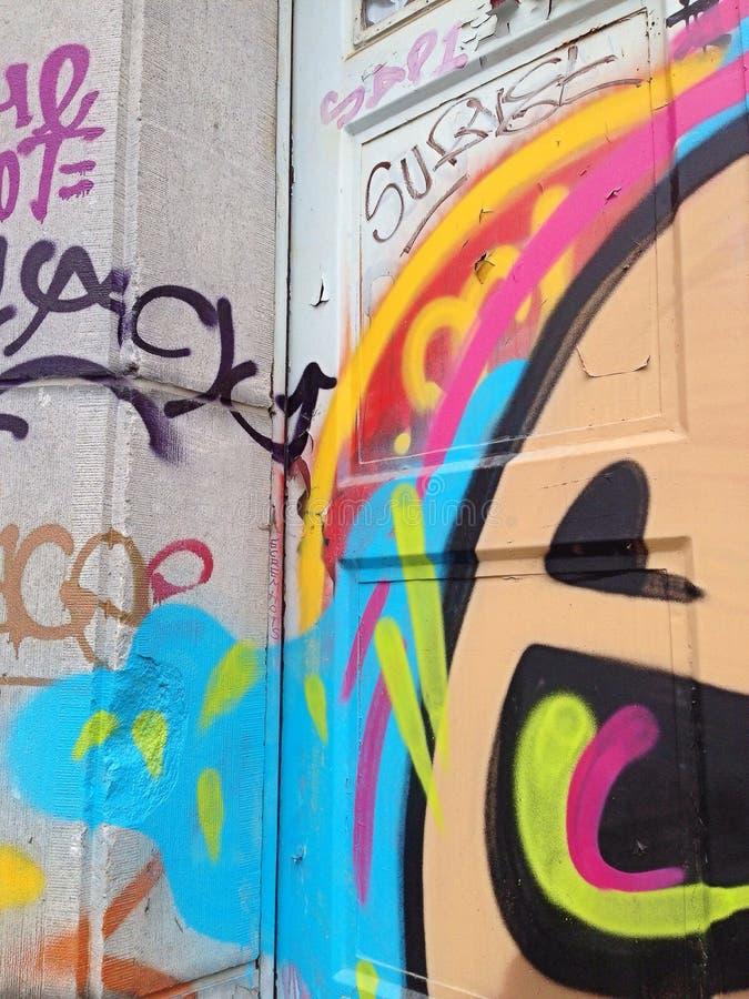 Brüssel-Graffiti stockbilder